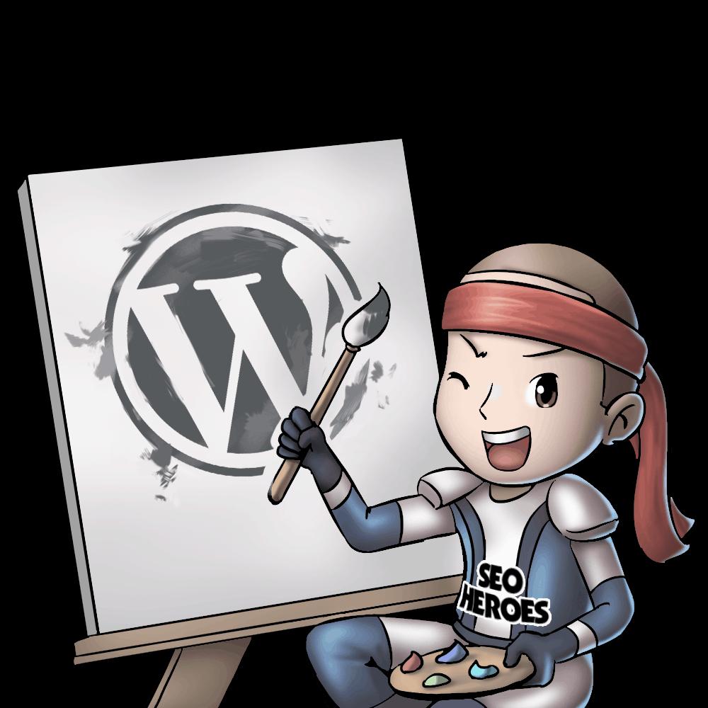 Hero Painting WordPress Logo